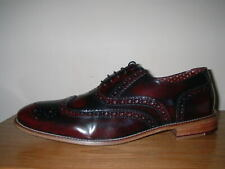 LONDON BROGUES GATSBY BORDO POLISHED LEATHER  FORMAL SHOES BROGUES 12/46