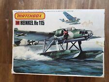 MATCHBOX 1/72  HEINKEL He-115 complet jamais monté avec boîte et notice ! 1983 !