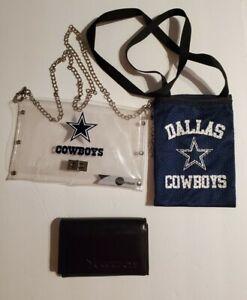 NFL Dallas Cowboys Womens Lot of 3 ~ Envelope Purse, Handbag and Bi fold Wallet
