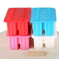10 Grid Frozen Ice Cream Mould Lolly Juice Maker Mold Popsicle Yogurt  JGM