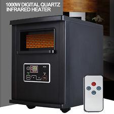 Black 1500W Electric Portable Space Heater Infrared Quartz W/Remote Control