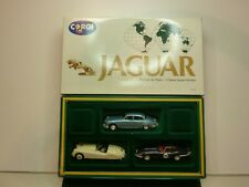 CORGI TOYS 97700 3x JAGUAR MK120 + E-TYPE + MK2 - 1:43 - VERY GOOD IN BOX