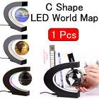 1x Floating Globe Light Decoration C Shape LED World Map Magnetic Levitation