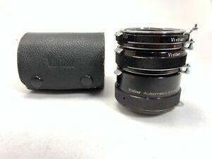 Vivitar AT-3 Auto Macro Extension Tubes 12, 20 & 36mm For Nikon Non AI (L024)