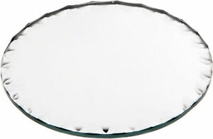 Plymor Round 3mm Beveled Scalloped Glass Mirror, 4 inch x 4 inch
