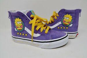 Vans x The Simpsons SK8-Hi Lisa For President VN0A4BUX17G Unisex Kids Size 13.5