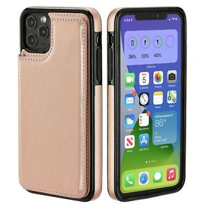 iPhone 7 8 X 11 12 Case Wallet Card Money Holder Leather Flip Cover for Apple