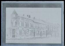 1920 - Chaussée de Mons Braine-le-Comte - Négatif Original CPA Plaque de verre