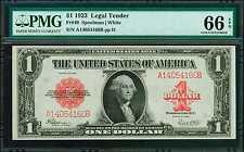 U.S. 1923 $1 LEGAL TENDER BANKNOTE FR-40 CERTIFIED PMG  GEM UNCIRCULATED-66-EPQ
