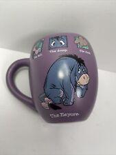 Eeyore Disney Store Purple Coffee Tea Mug Cup The Tail Droop Cloud Winnie Pooh