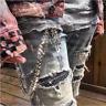 Double Link Cross Pants Wallet Chains Biker Trucker Punk Jean Cool Key Chain Men
