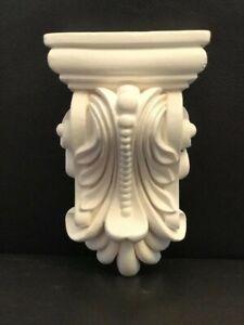 Pair of Plaster Corbels Brackets Elegant Exclusive Decorative Height 11cm Fine