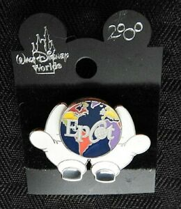"Walt Disney World 2000 LE ""MICKEY MOUSE HANDS HOLDING EPCOT CENTER"" PIN MINT"