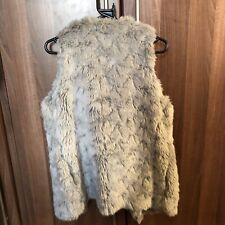 Next grey faux fur gilet size 8