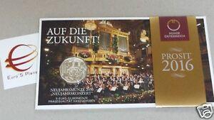 5 euro 2016 Ag folder Austria Autriche Österreich concerto Neujahrskonzert