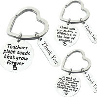 Stainless steel Heart Keyring Gift Keychain for Thank You Teachers' Day Gifts_DS