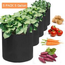 More details for 5x fabric planting grow bag garden flower vegetable tomato potato planter pot uk