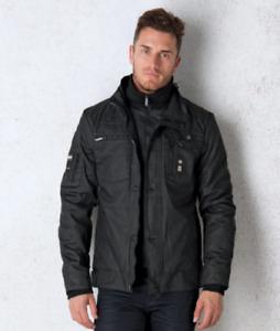 Crosshatch Plixxie Coated Black Jacket Black Large TD015 BB 04