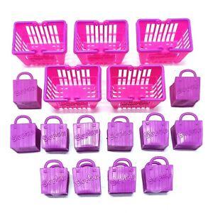 Shopkins Season 2 Shopping Baskets & Bags Bundle - 5 Baskets & 12 Shopping Bags