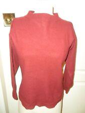 MARGARET HOWELL maroon 100% merino wool felted long sleeve JUMPER size M