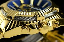 """Invicta Men 50mm Bolt """"Blue Devil"""" Chrono 18K Gold Plated Stainless Steel Watch"""