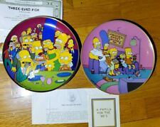 The Simpsons Set Of 2 Collectors Plates Franklin Mint