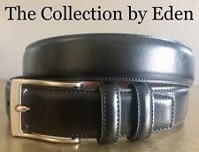 Perry Ellis Portfolio Belt- Black Genuine Leather Size 34