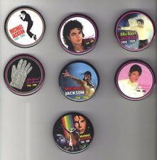 7 MICHAEL JACKSON 1958 - 2009 MEMORY pin 2009 pinback Button
