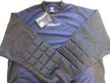 Uhlsport Goal Porte outils maille chemise manches longues rembourré (Bleu/Noir)