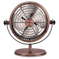 Bronze Metal 3 Speed Ocilating Desk Top Table Top Fan 12 inch Air Cooling Fan