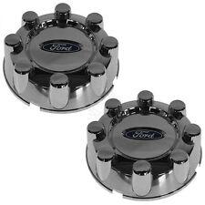 OEM Wheel Center Cap Chrome 8 Lug Pair Set of 2 for Ford Super Duty Pickup Truck
