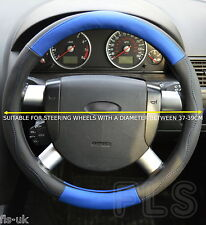 UNIVERSAL FORD FAUX LEATHER LOOK BLUE STEERING WHEEL COVER