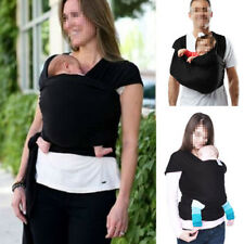 Adjustable Baby Sling Stretchy Wrap Carrier Breastfeeding Newborn Birth 3yr Black