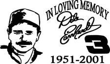 Dale Earnhardt In Memory Decal, NASCAR Decal