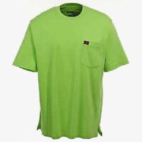 Wrangler Mens Riggs Workwear Short Sleeve Pocket Tee Shirt Safety Green SIZE 2XL