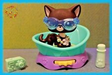 🌺 Littlest Pet Shop Black Blythe Short Hair Cat #2249 + Accessories + Gift Bag