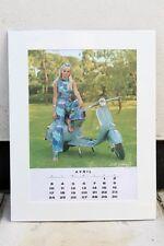 VESPA PIAGGIO Vintage APRIL 1966 Calendar 60s MODS 150 GL SCOOTER Britt Ekland
