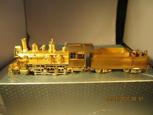 HOn3  Brass NJ D&RGW 2-8-0 C-21 #361 Steam Locomotive and Tender Unpainted