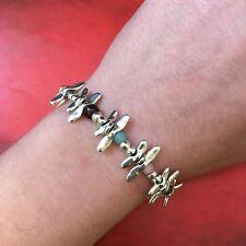 UNO de 50 ANY TIME Multi Color Beaded Bracelet w/ Dragonflies & Pkging PUL1732
