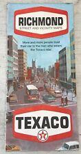 Vintage Antique 1969 Texaco Street & Vicinity Maps Of Richmond Virginia