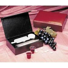 BRAND NEW -PORTABLE COMMUNION SET Burgundy Case