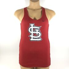 Nike MLB St. Louis Cardinals Baseball Ribbed Tank Red Cotton Womens XL