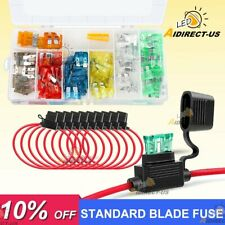 New listing 120x Standard Blade Fuse Assorted Set w/10 Pack 14Awg Atc/Ato Inline Fuse Holder