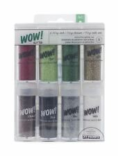 American Crafts 8-Pack WOW Extra Fine Glitter Assorted Christmas Colors 4-Pack