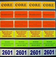500 Printed Labels Custom Rectangle 34 X 1 14 Business Stickers 1 Color