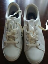 KEDS STRETCH VINTAGE WOMENS LOW TOP WHITE LEATHER LACE SNEAKERS  SIZE 7 NWOB
