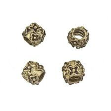 Laiton antique motif fleuri Barrel Spacer Beads 9 mm Pack de 4 (C82/16)