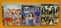 Disney Sing It Party, HSM School Musical 3, Karaoke - Sony PlayStation 3 PS3 Lot