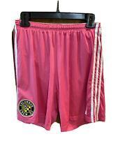 Adidas Columbus Crew Soccer Short Mens Medium Pink # 1 EUC