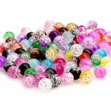 8mm Wholesale 100Pcs Multicolor Crystal Crack Beads Glass Round Loose Spacer